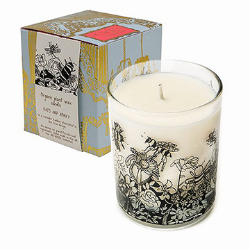 ARTHOUSE Unlimited Scented Organic Candle Oats & Honey - Bee Free Design - The Danes