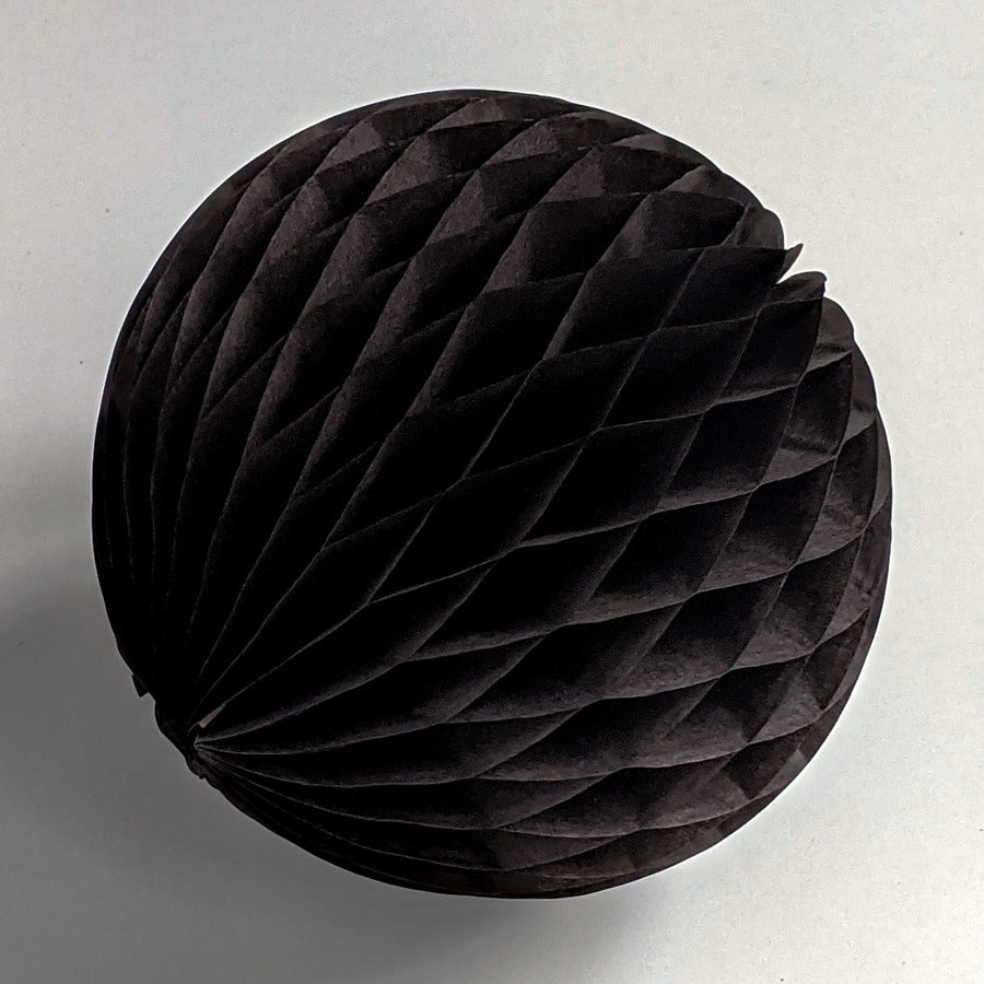 Black Honeycomb Paper Ball - The Danes