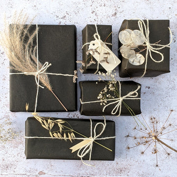 Black Kraft Wrapping Paper - Recyclable - The Danes