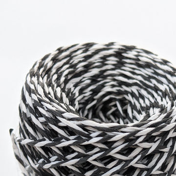 Black & White Twisted Paper String - 50m - The Danes