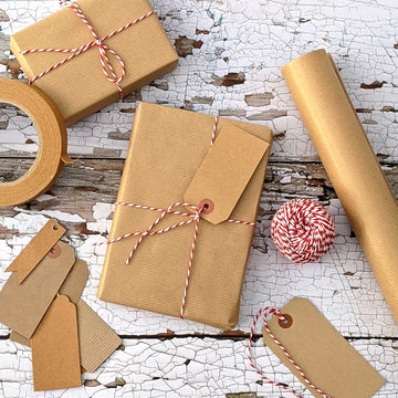 Brown Paper Packages Tied With String - Gift Wrap Set - The Danes