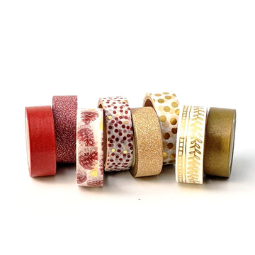 Gold Design Washi Paper Tape - Dots & Garland - The Danes