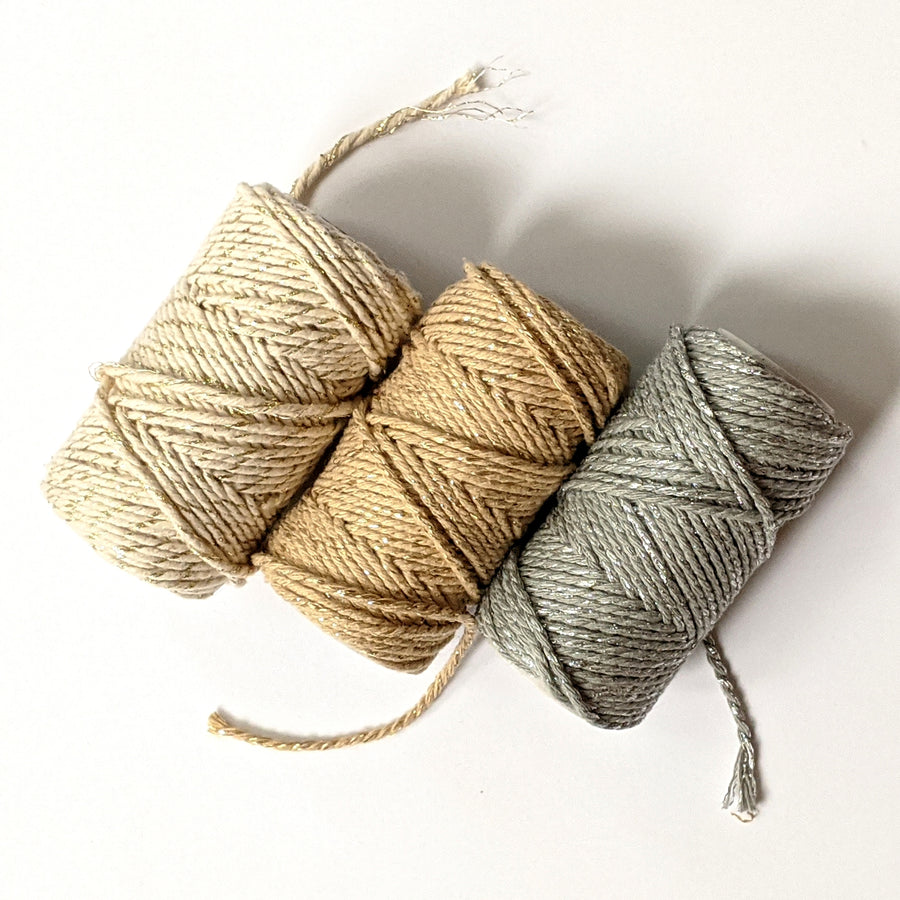 Cotton Bakers Twine - Metallic, Gold Or Silver - The Danes