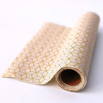Cotton Table Runner - Gold Pattern - The Danes