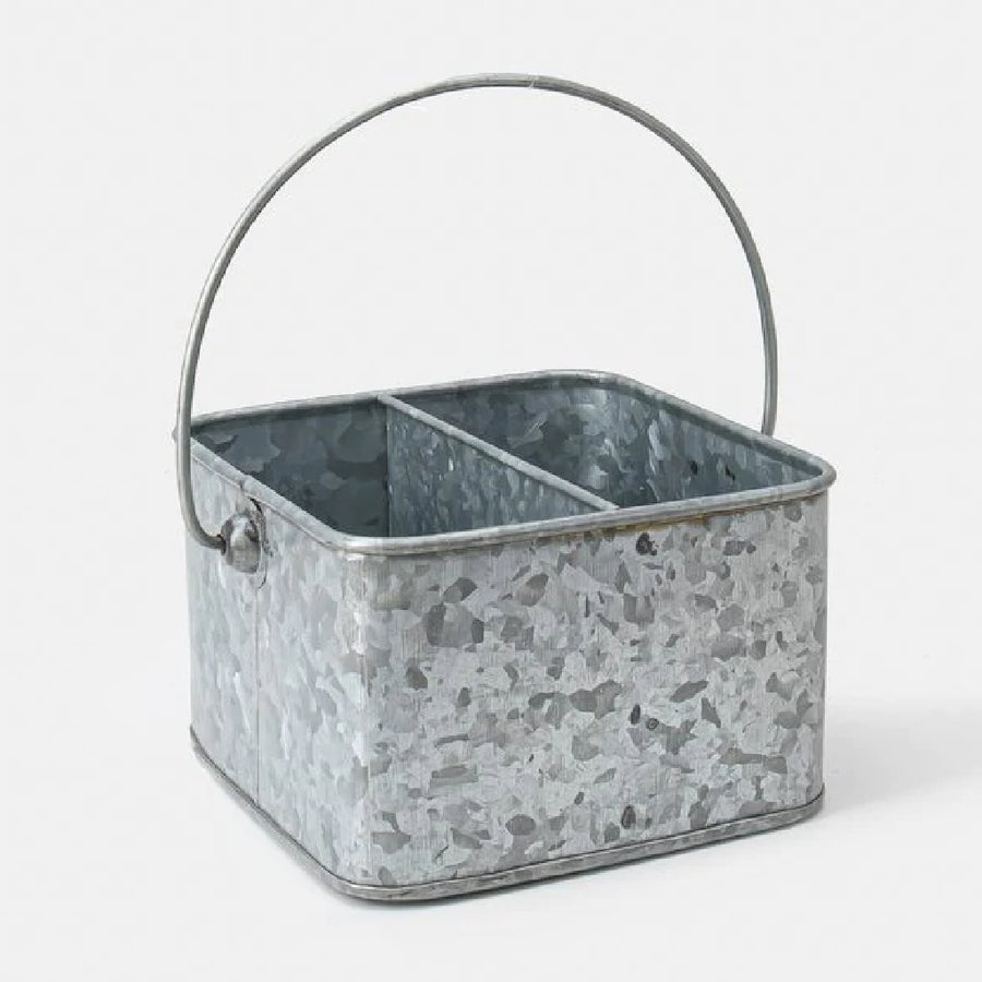 Galvanised Metal Display Caddy - 2 Sizes - The Danes
