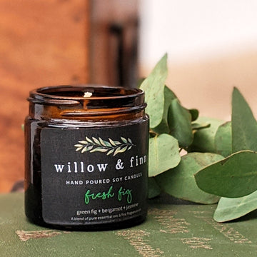 Handmade Soy Candle - Fresh Fig - Willow & Finn - The Danes