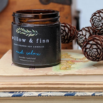 Handmade Soy Candle - Lavender & Patchouli - Willow & Finn - The Danes