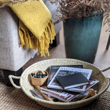 Handwoven Round Palm Leaf Tray - The Danes