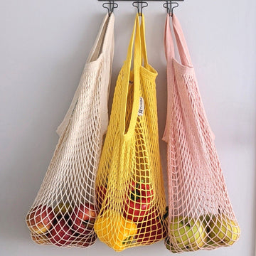 Organic Cotton Short Handled Turtle String Bag - 3 Colours - The Danes