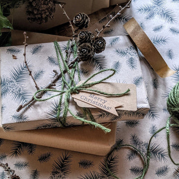 Pine Cone Kraft Wrapping Paper - 3m, 100% Eco Friendly - The Danes