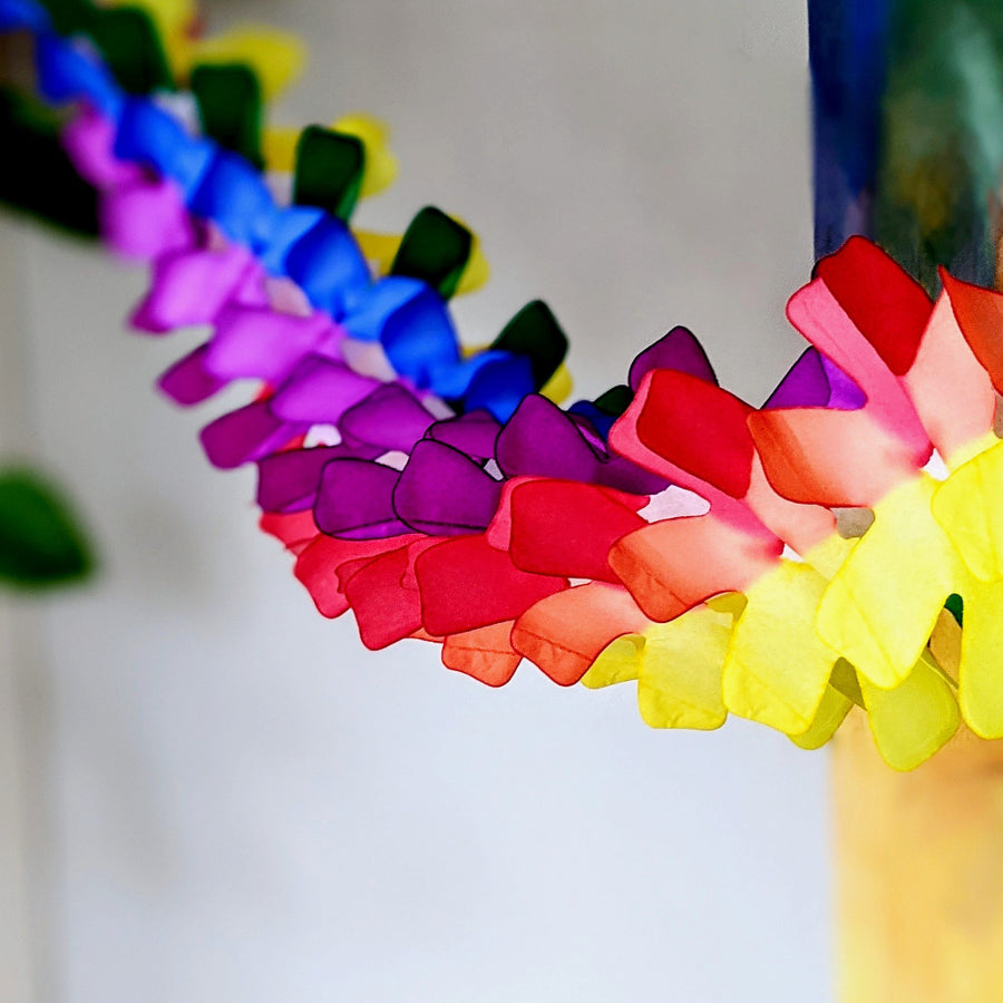 Rainbow Party Multicoloured Honeycomb Paper Garland - The Danes