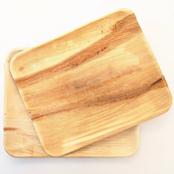 Large Rectangular Palm Leaf Grazing Platters - The Danes