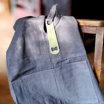 Recycled Canvas Apron & Brass Barblade - The Danes