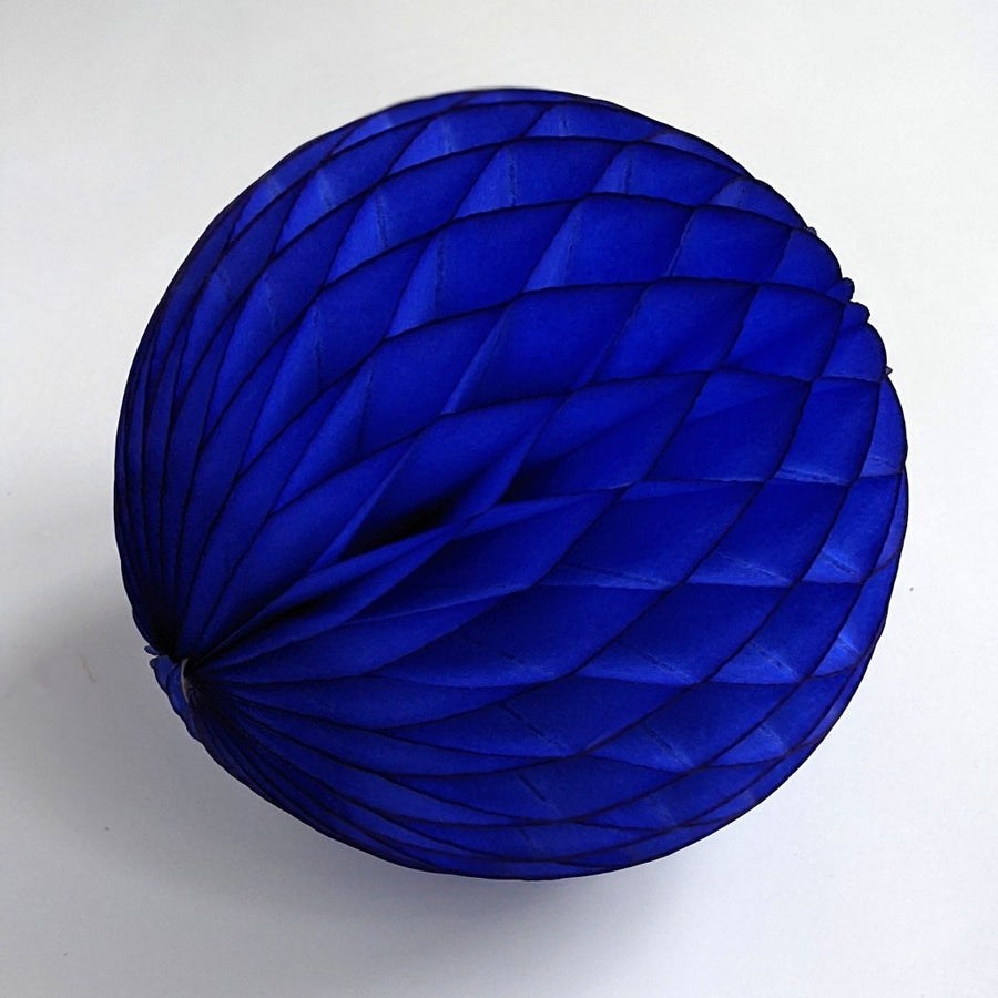 Royal Blue Honeycomb Paper Ball - The Danes