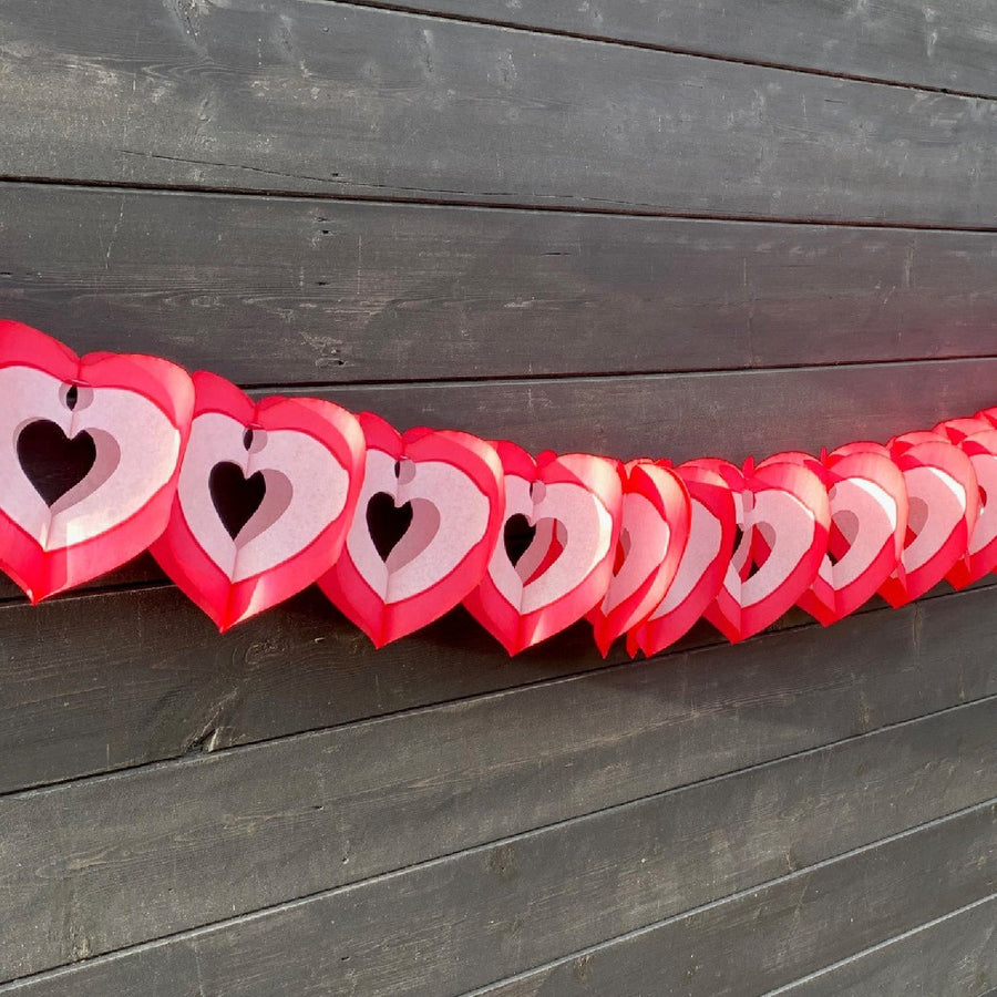 Valentine's Honeycomb Paper Heart Garland - The Danes