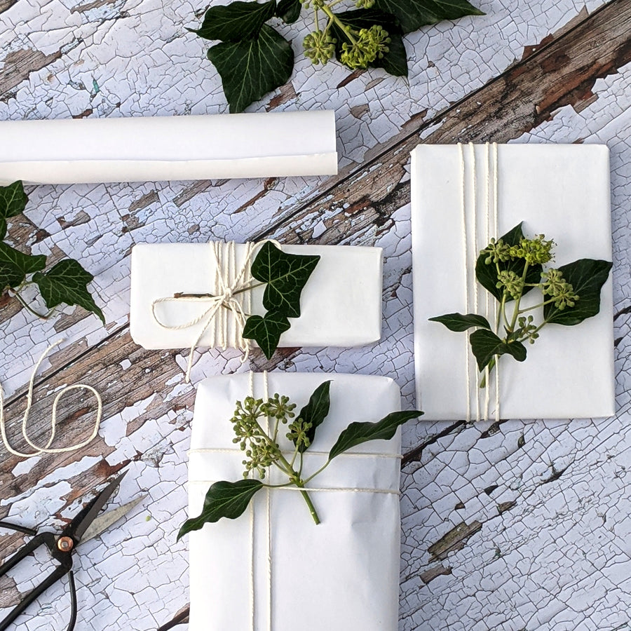 White Kraft Wrapping Paper - Recyclable - The Danes