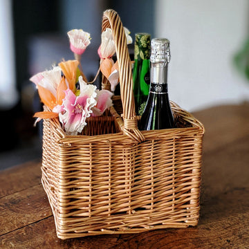 Willow Basket Bottle Carrier - The Danes