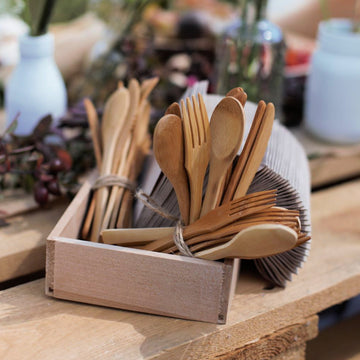 Bamboo Cutlery Sets - Knife, Fork & Spoon - The Danes