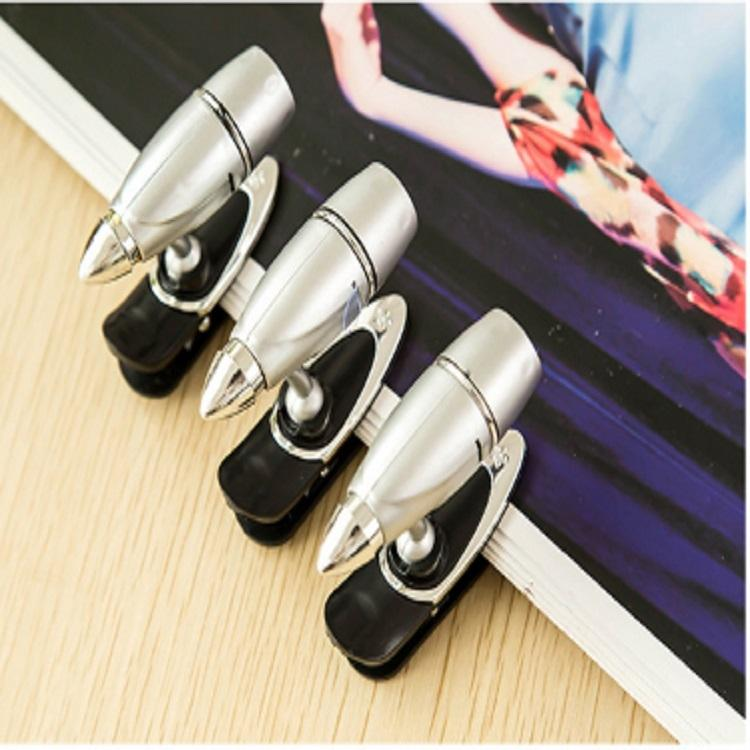Portable 2 PCS Super Bright Bullet Light Mini Clip