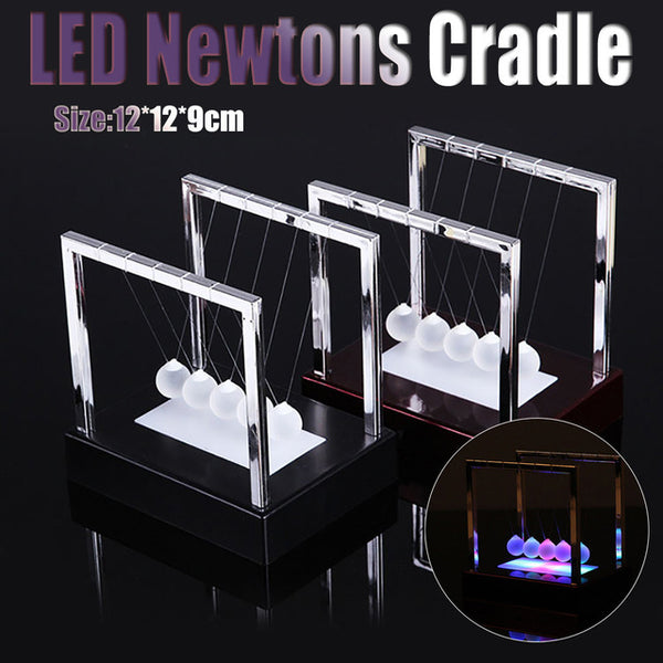 Newtons Ball Cradle LED Light Up Kinetic Energy