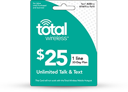 $25 Total Wireless Unlimited Talk & Text (Single Line) - PhoneProbs