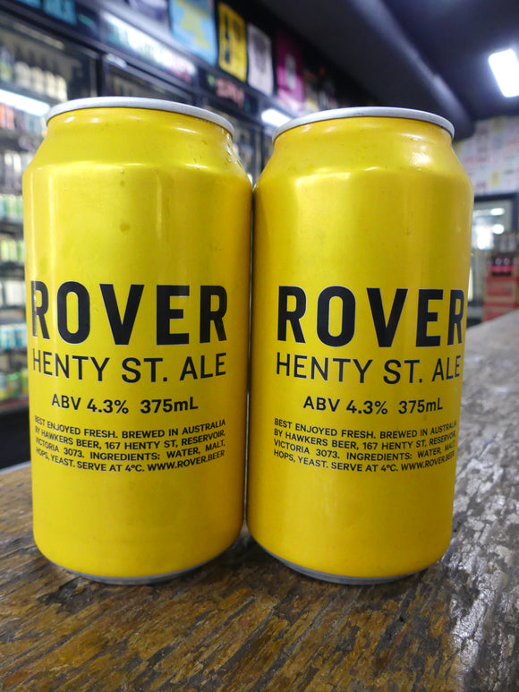 Rover Henty St. Ale Cans 375ml 4.2%