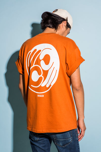 "T-Shirt ""Okay Okay"" - Orange"