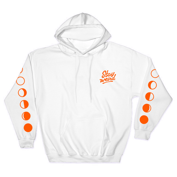 Stay Weird - White Hoodie