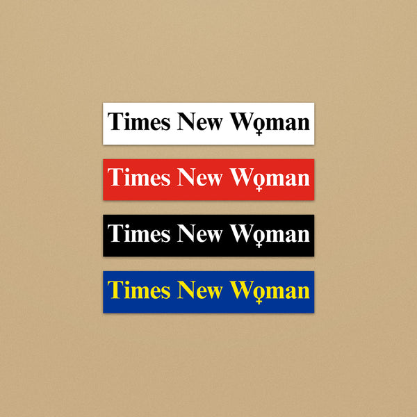 Times New Woman Stickers