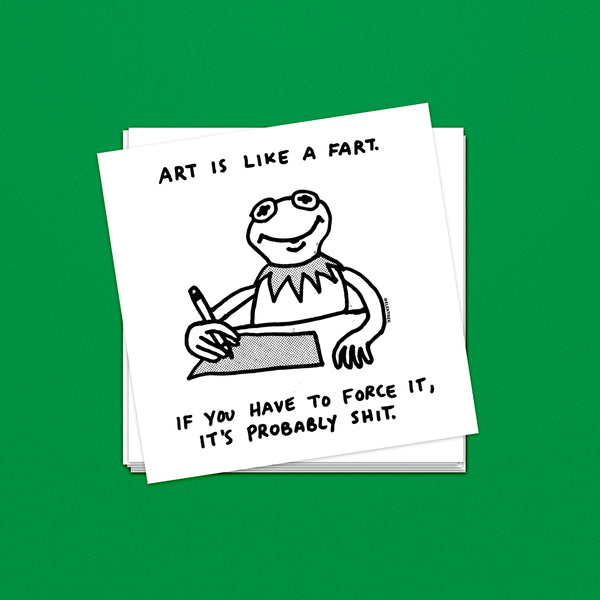 Art is Like a Fart Sticker