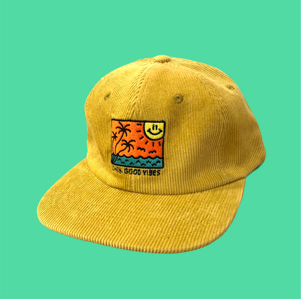 Only Good Vibes Corduroy 5 Panel