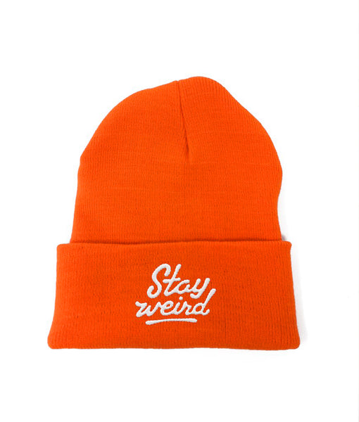 Stay Weird - Tuque Orange Neon