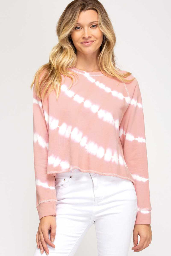 Top - Tie Dye Long Sleeve Knit Top