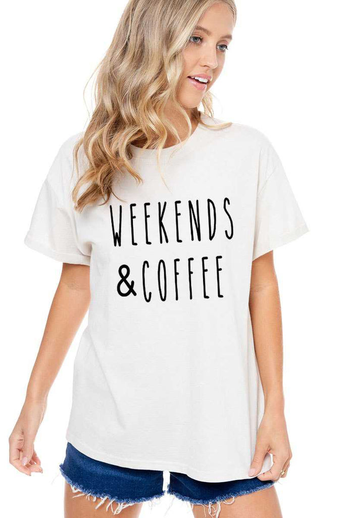 Top - Weekend And Coffee Short Sleeve Top