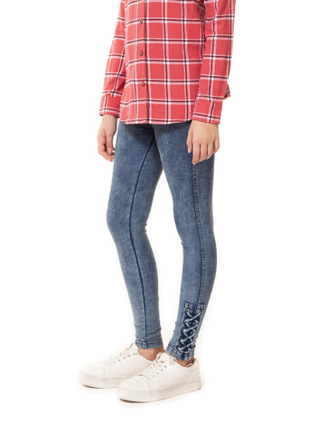 Pants - Dex Kids Lace Up Hem Detail Leggings