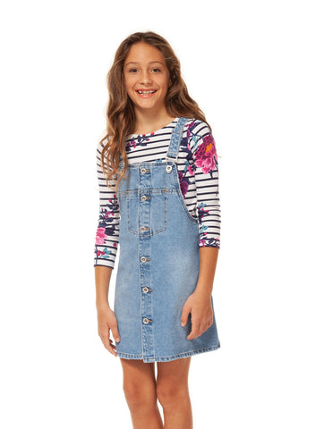 Dress - Dex Kids Overall Denim Dress