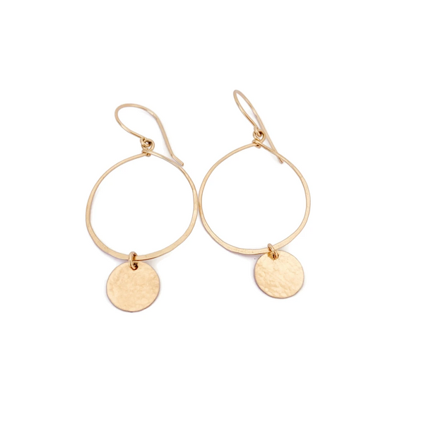 Jewelry - Ebb & Flow Hoop Disc Earrings