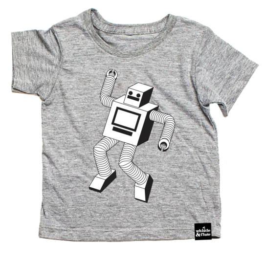 Top - Whistle & Flute Kids Robot Tee