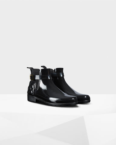 Footwear - Hunter Original Refined Quilted Gloss Chelsea Boots