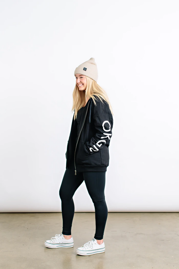 Top - Okanagan Lifestyle Bonfire Zip Up