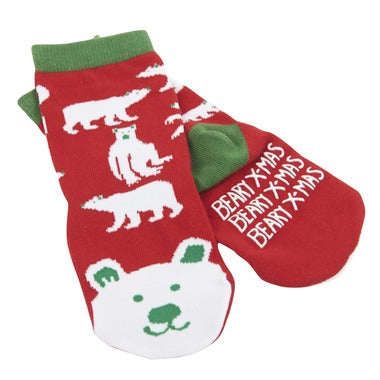 Accessory - Hatley Kids Beary Xmas 2-Pack Baby Socks