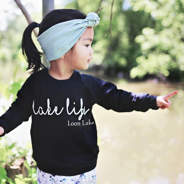 Top - Posh & Cozy Kids Lake Life Crew