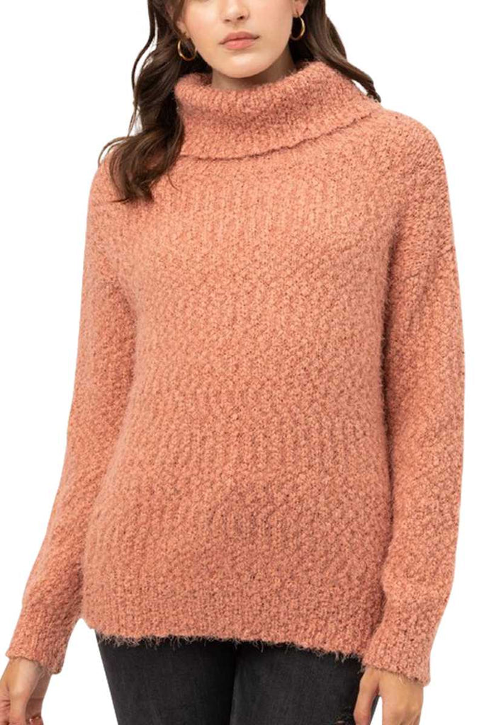 Top - Fuzzy Turtleneck Sweater