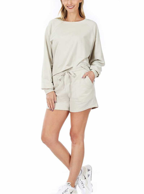 Top - Oversized French Terry Raglan Sleeve Top