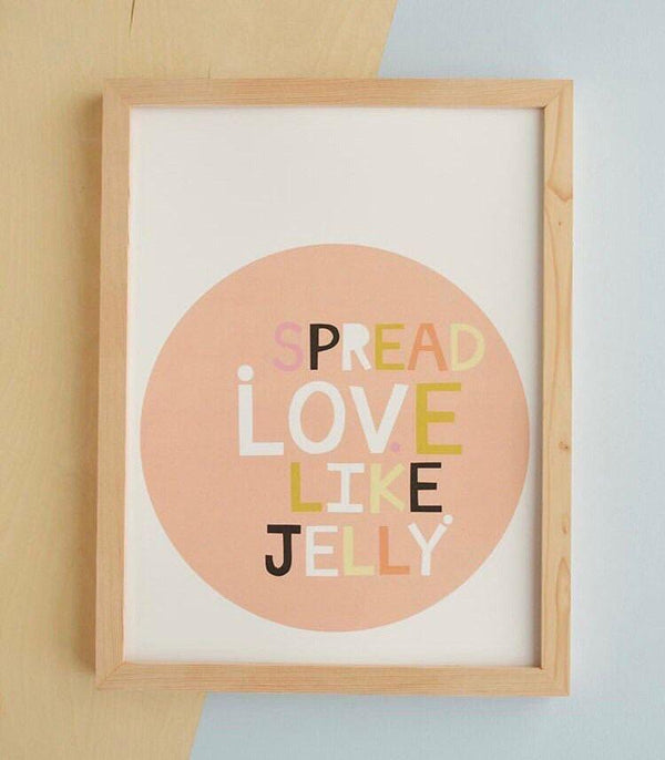 Gift - Carla Bee Framed Spread Love Like Jelly Print