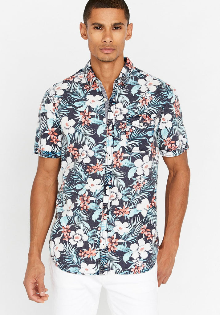 Top - Buffalo Sonex Tropical Button Down Shirt