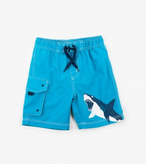 Swimsuit - Hatley Kids Shark Alley Board Shorts