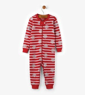 Pyjama - Hatley Kids Candy Cane Organic Cotton Baby Waffle Coverall