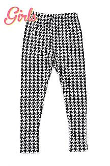Pants - Girls Houndstooth Print Leggings