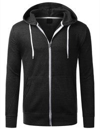Top - Solid Zip Up Hoodie